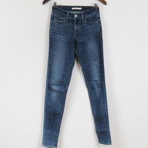 Levis 710 Super Skinny Jeans Midrise Waist 25